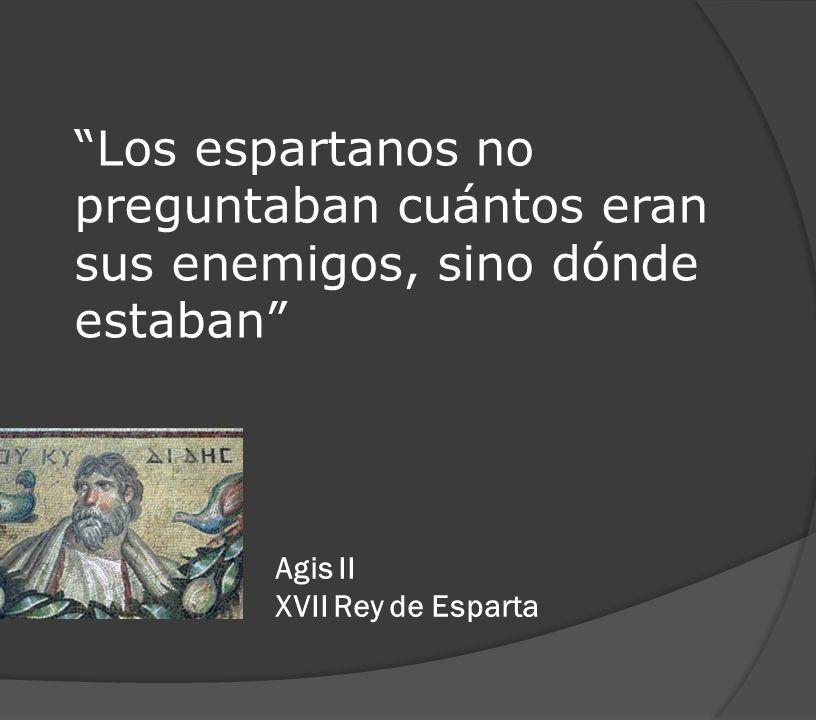 Agis II. XVII Rey de Esparta.