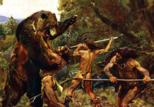 hunting_the_cave_bear_by_zdenek_burian_1952 (1)